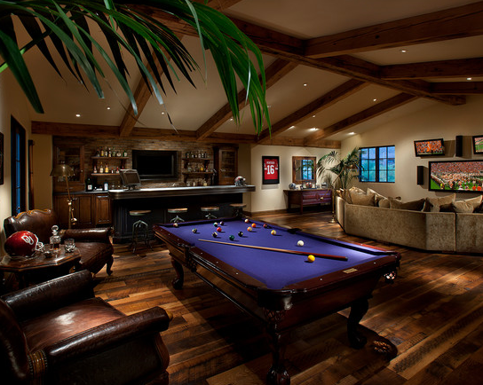 Designing a man cave peardrealestate for Pool room design uk