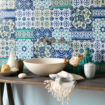 Moroccan-tiles-green-basin