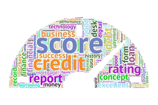 Credit Score Word Cloud