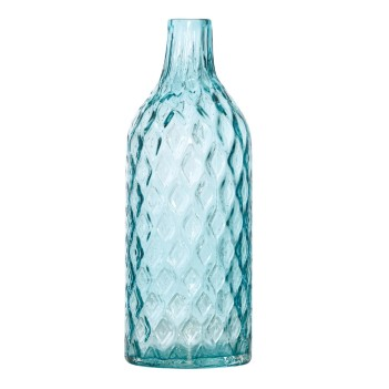 Dwyer Teal Glass Diamond Pattern 40 cm